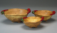 Lynn Hull - Red Chili Pepper Bowls